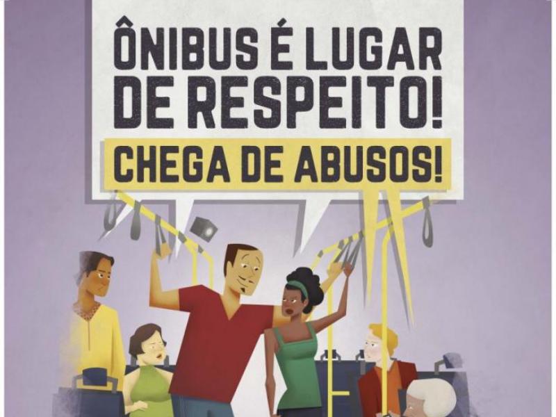 Assédio: Campanha nacional de prevenção da violência contra mulher e da importunação sexual no transporte coletivo orienta passageiros a denunciar abusos
