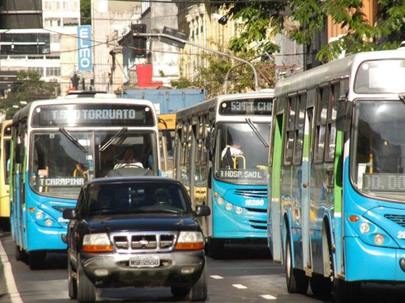 Ônibus é o transporte com menor índice de acidentes no trânsito