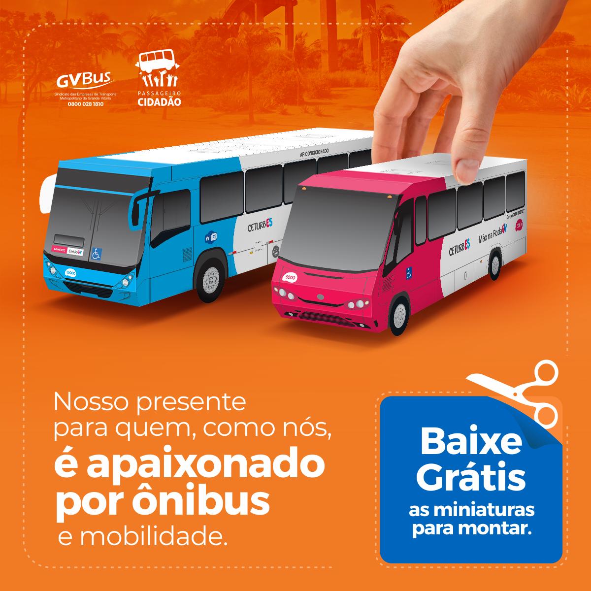 miniaturas dos ônibus do Transcol para imprimir e colar